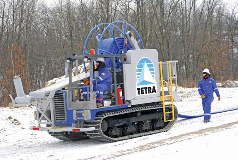 temporary water transfer piping