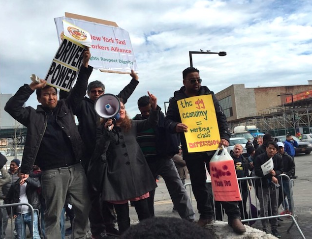 February 2016 Driver Protest against Uber in NYC, via Gothamist