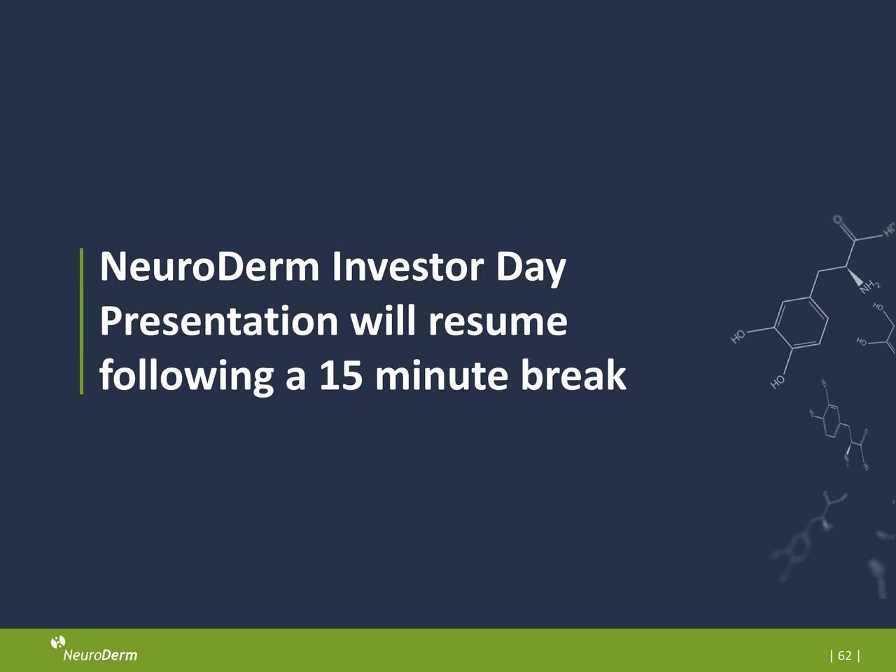 neuroderm  ndrm  investor presentation