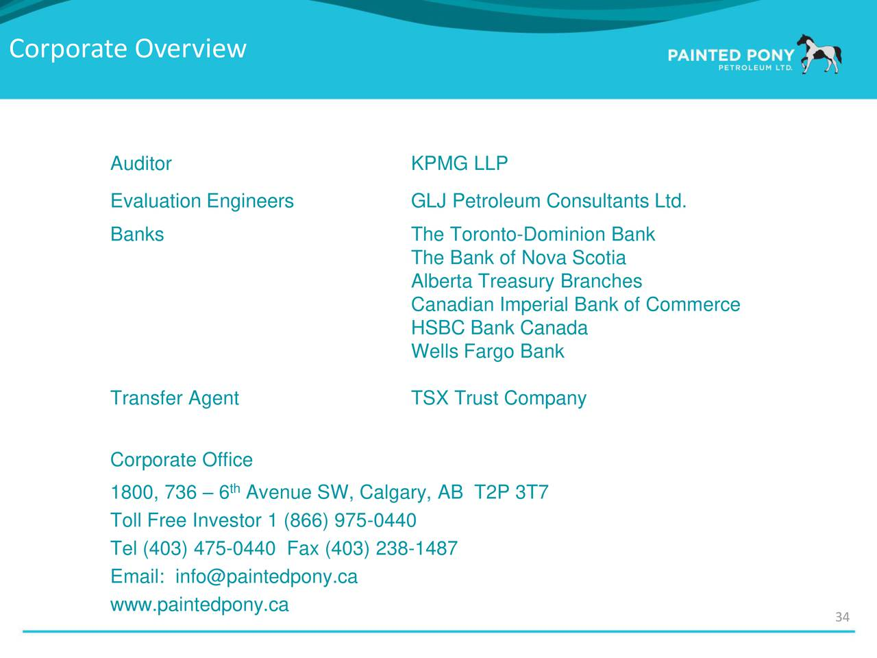 Painted pony petroleum presents at enercom 39 s the oil gas - Td canada trust toronto head office ...